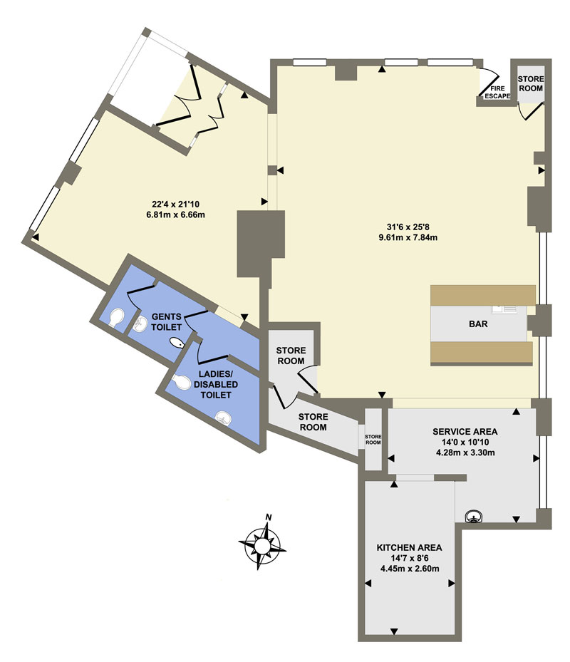 2D Floor Plans in colour